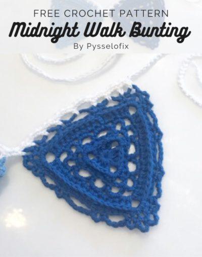 Free Crochet Pattern Midnight Walk Bunting