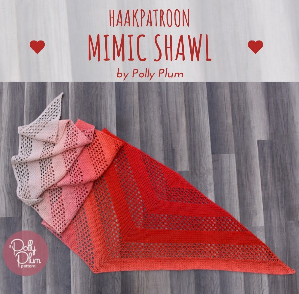 Free Crochet Pattern Mimic Shawl