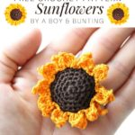 Free Crochet Pattern Sunflowers