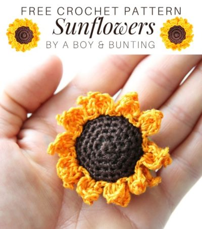 Free Crochet Pattern Sunflowers