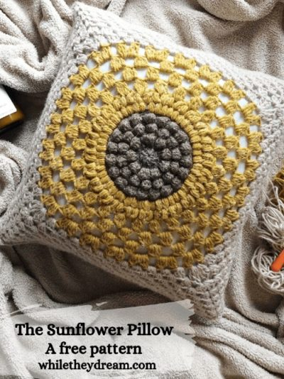 Free Crochet Pattern The Sunflower Pillow