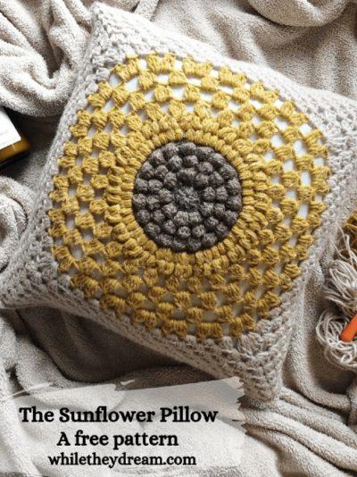 Free Crochet Pattern The Sunflower Pillow