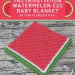 Free Crochet Pattern Watermelon C2C Baby Blanket