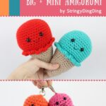 Free Crochet Pattern Ice Cream Big & Mini