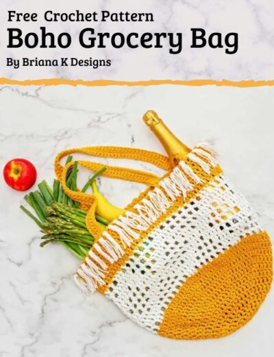 Free Crochet Pattern Boho Grocery Bag