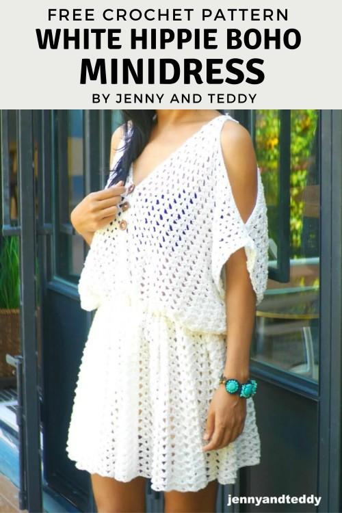 Free Crochet Pattern Boho Minidress