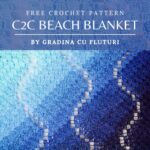 Free Crochet Pattern C2C Beach Blanket