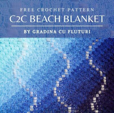Free Crochet Pattern C2C Beach Blanket