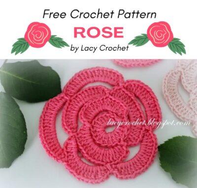 Free Crochet Pattern Rose