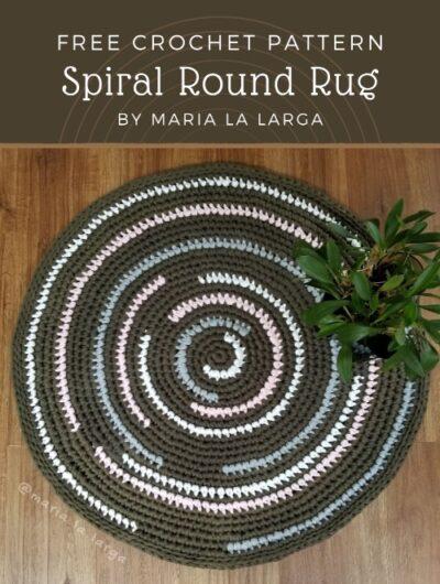 Free Crochet Pattern Spiral Round Rug