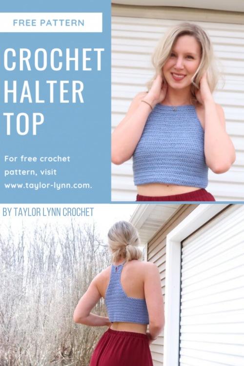 Free Crochet Pattern Springtide Halter Top