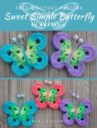 Free Crochet Pattern Sweet Simple Butterfly