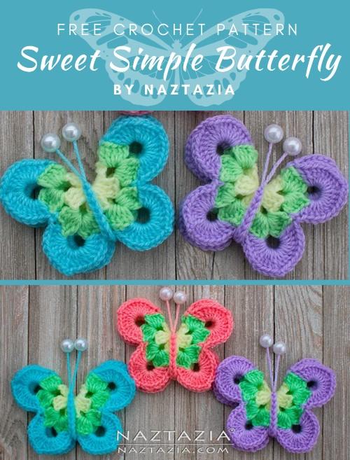 Free Crochet Pattern Sweet Simple Butterfly
