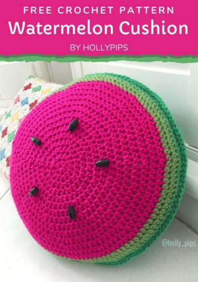 Free Crochet Pattern Watermelon Pillow