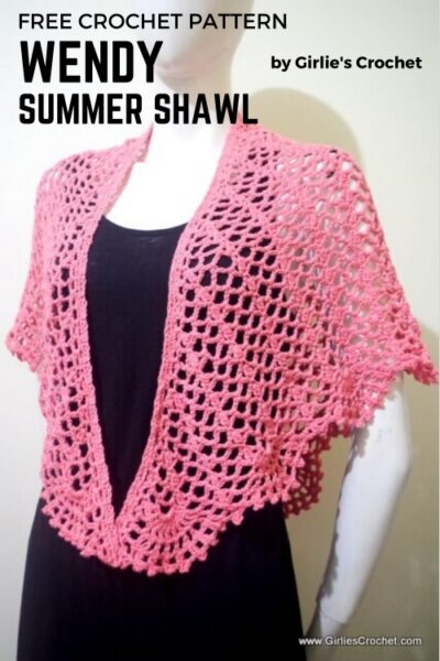 Free Crochet Pattern Wendy Summer Shawl