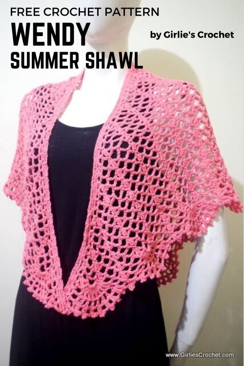 Free Crochet Pattern Wendy Summer Shawl