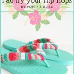 Free Crochet Pattern fab-ify your flip flops