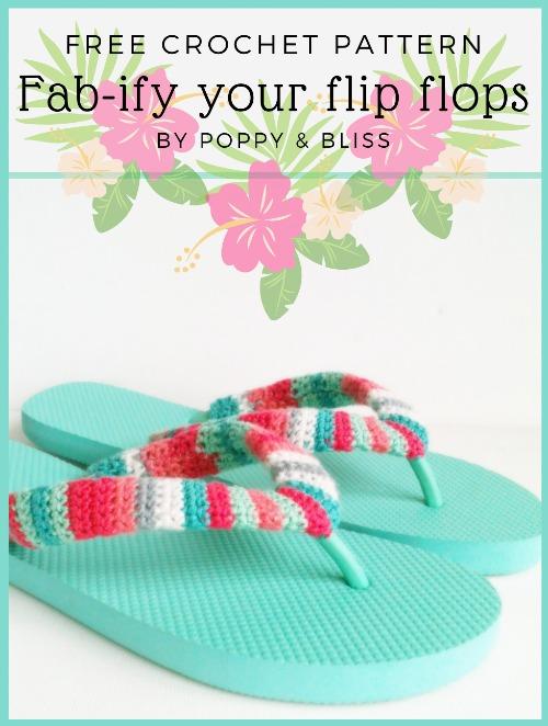 Free Crochet Pattern fab-ify your flip flops