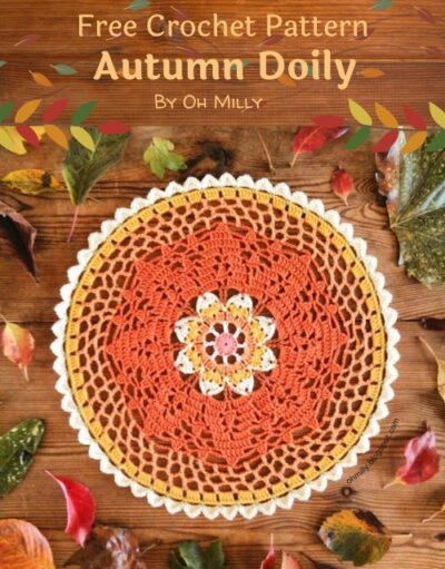 Free Crochet Pattern Autumn Doily