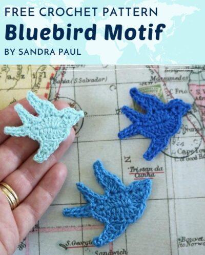 Free Crochet Pattern Bluebird Motif