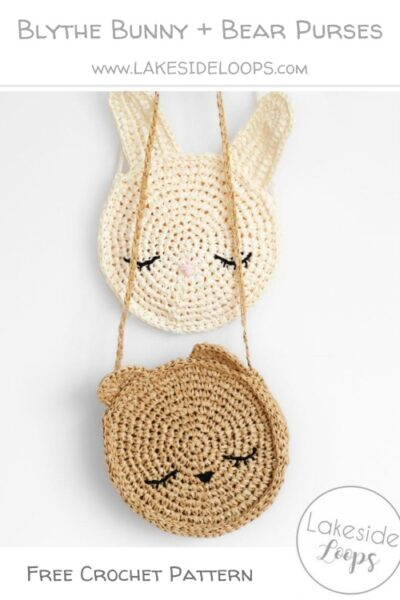 Free Crochet Pattern Blythe Bunny + Bear Purses