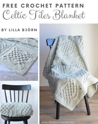Free Crochet Pattern Celtic Tiles Blanket
