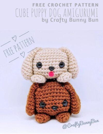 Free Crochet Pattern Cube Puppy Dog Amigurumi