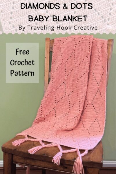 Free Crochet Pattern Diamonds Dots Baby Blanket