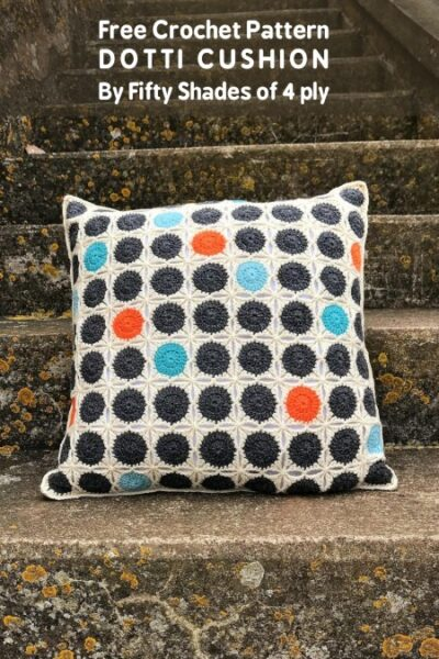 Free Crochet Pattern Dotti Cushion