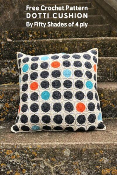 Free Crochet Pattern Dotti Cushion