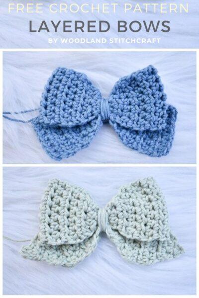 Free Crochet Pattern Layered Bows