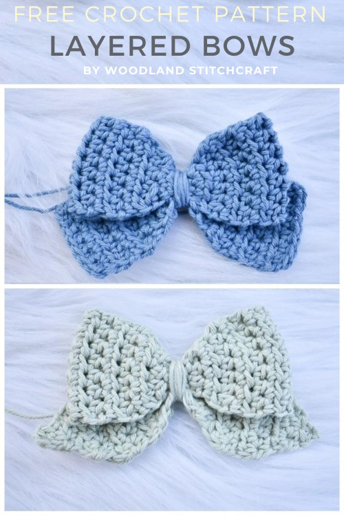 Free Crochet Pattern Layered Bows