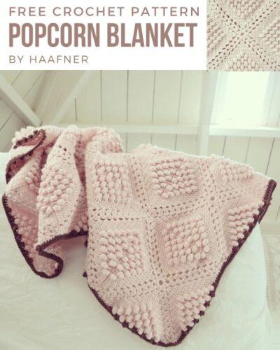 Free Crochet Pattern Popcorn Blanket