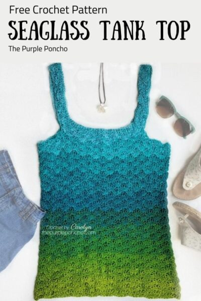 Free Crochet Pattern Seaglass Tank Top