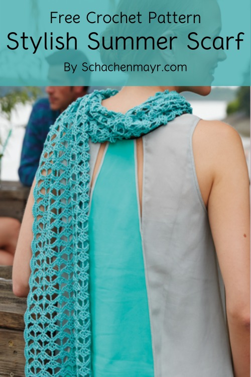 Free Crochet Pattern Stylish Summer Scarf