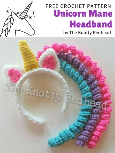 Free Crochet Pattern Unicorn Mane Headband
