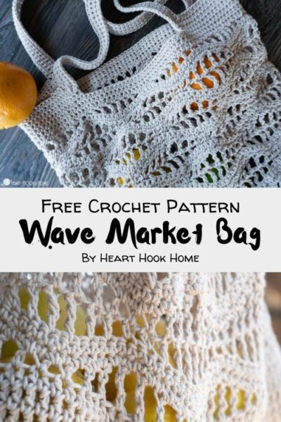 Free Crochet Pattern Wave Market Bag