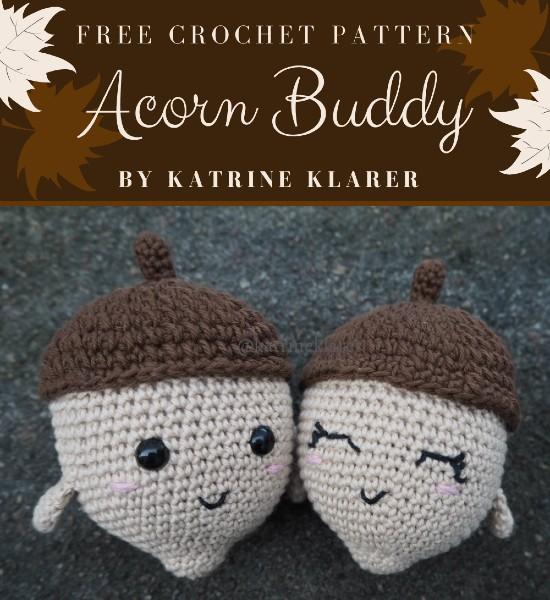 Free Crochet Pattern Acorn Buddy
