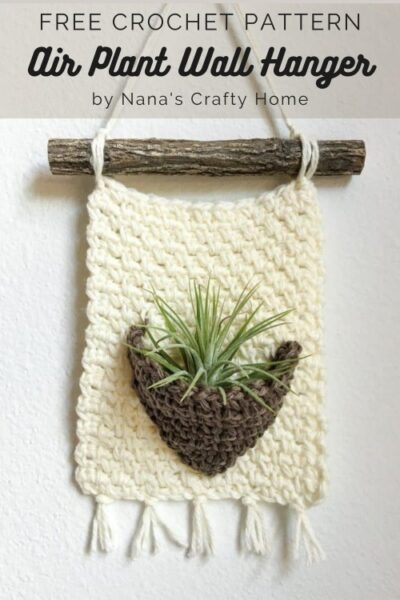 Free Crochet Pattern Air Plant Wall Hanger