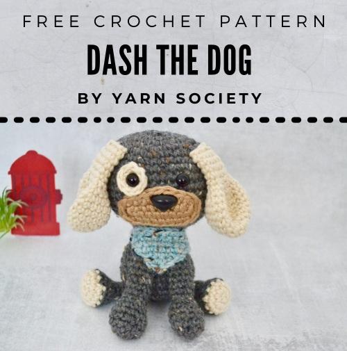 Free Crochet Pattern Dash the Dog