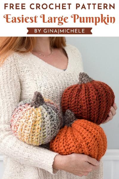 Free Crochet Pattern Easiest Large Pumpkin