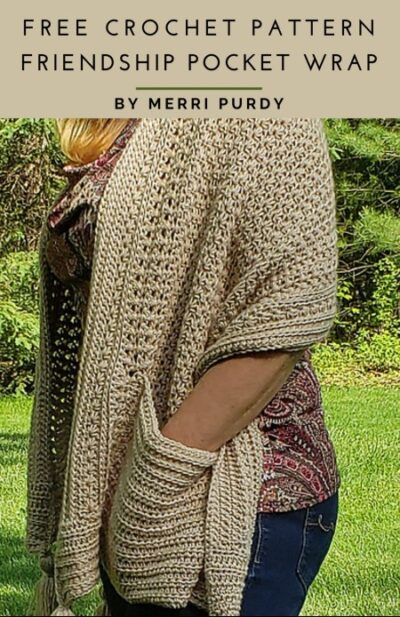 Free Crochet Pattern Friendship Pocket Wrap