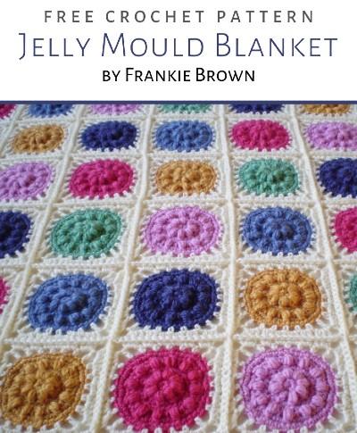 Free Crochet Pattern Jelly Mould Blanket