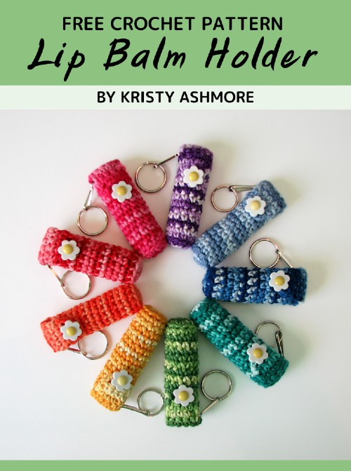 Free Crochet Pattern Lip Balm Holder
