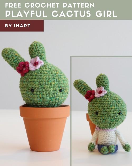 Free Crochet Pattern Playful Cactus Girl