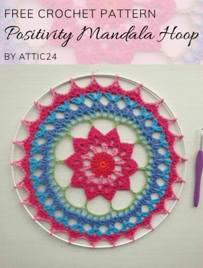 Free Crochet Pattern Positivity Mandala Hoop