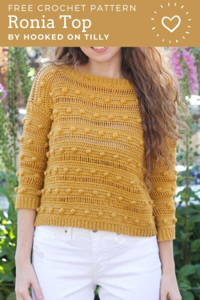 Free Crochet Pattern Ronia Top