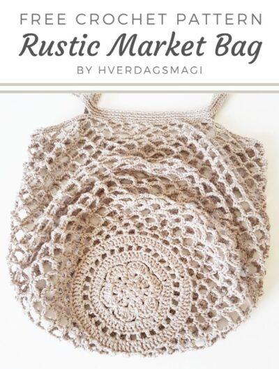 Free Crochet Pattern Rustic Market Bag