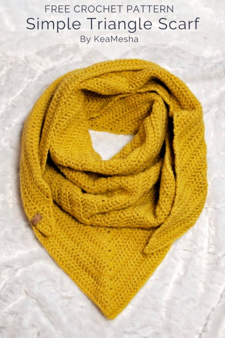 Free Crochet Pattern Simple Triangle Scarf