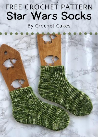 Free Crochet Pattern Star Wars Socks